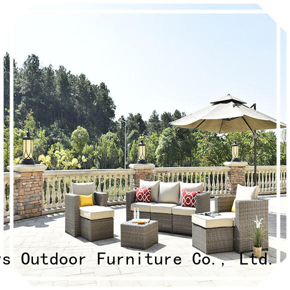 customized sectional patio furniture sofa set for terraces