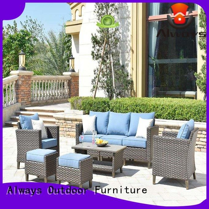 Always customized outdoor wicker patio furniture couch for porch