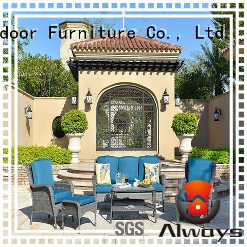 Always comfortable wicker garden furniture sets manufacturer for porch