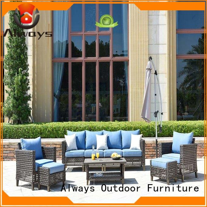 Always customized wicker outdoor furniture couch for gardens