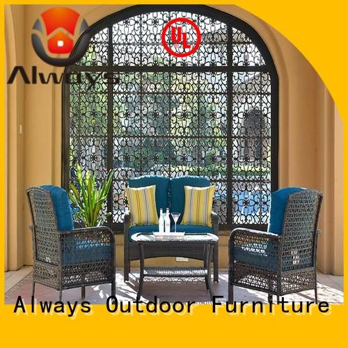 fashionable sectional patio furniture material factory price for gardens