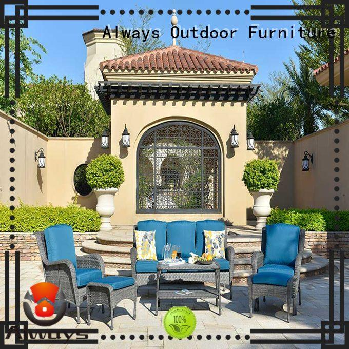 Always augtus outdoor wicker patio furniture environmentally friendly for porch