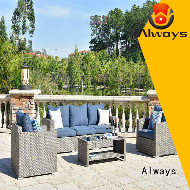 Always big wicker outdoor sofa set couch for gardens
