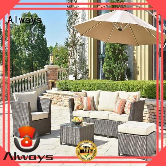 Always style outdoor wicker patio furniture for gardens