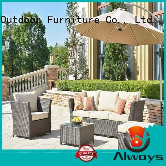 Always pe resin patio furniture for sale for gardens