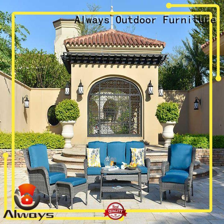 Always high quality all weather wicker sofa manufacturer for gardens
