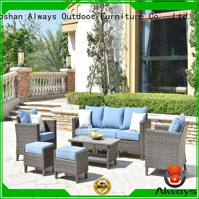 Always table wicker patio sofa manufacturer for gardens