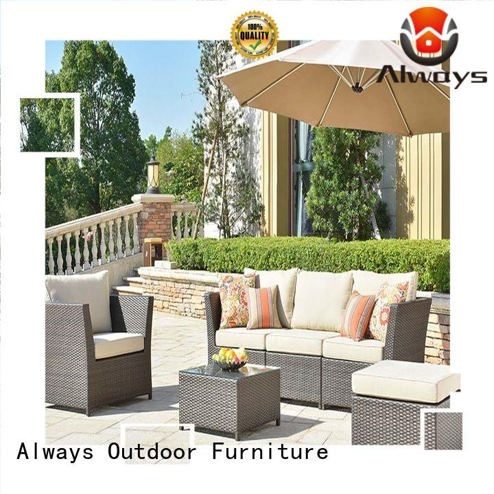 Wholesale Brown Outdoor Wicker Sofa And Wicker Garden Table Set Rimaru