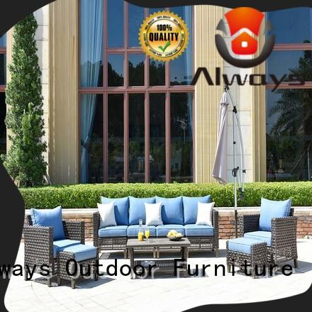 Always fashionable dining patio furniture factory price for gardens
