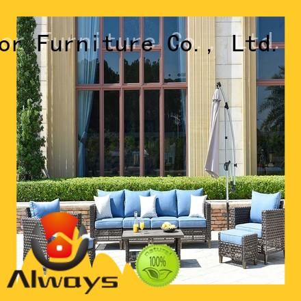 Always big outside patio furniture promotion for gardens