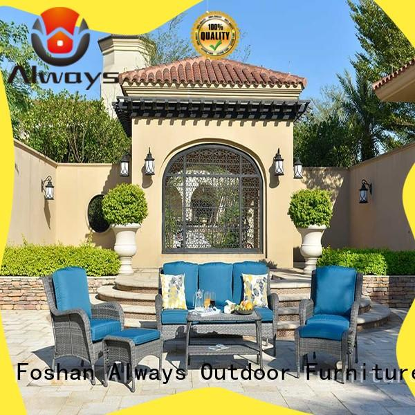 Always rattan outdoor furniture wholesale factory price for gardens