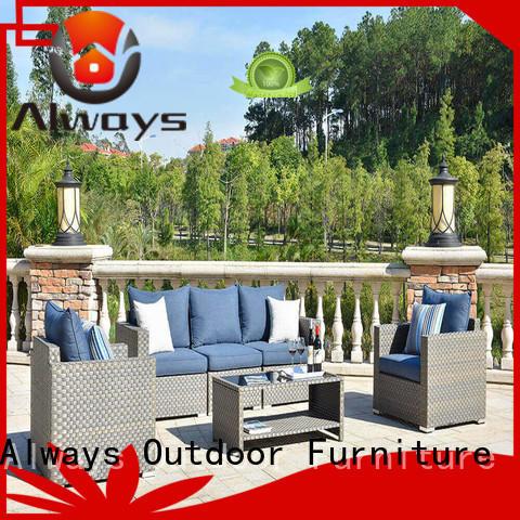 Always weatherproof wicker outdoor sofa set set for gardens