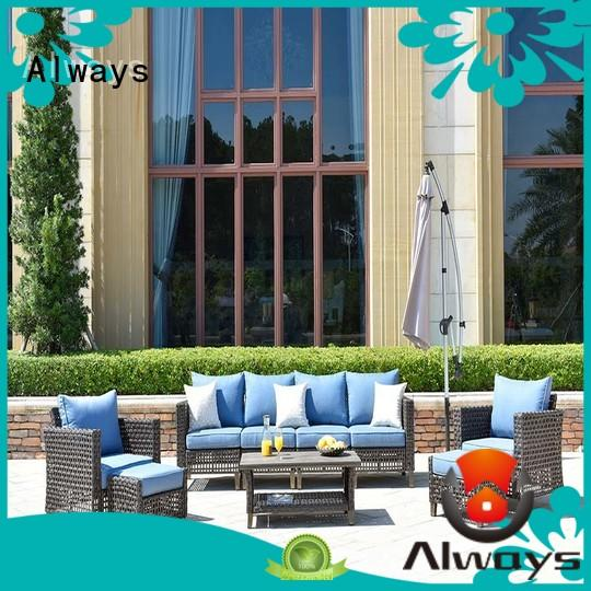 Always durable all weather wicker sofa from China for porch