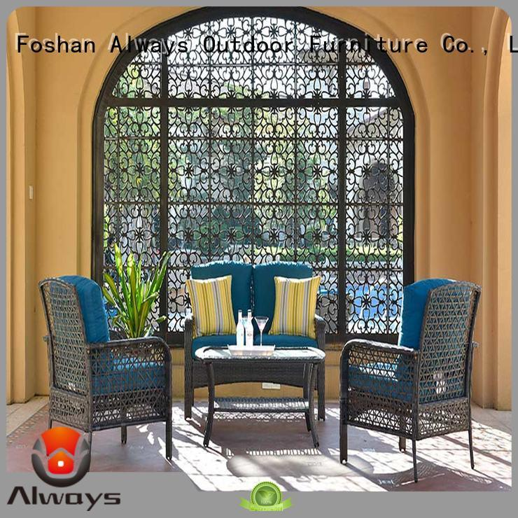 Always comfort commercial outdoor furniture wholesale set for swimming pools for outdoor leisure for places