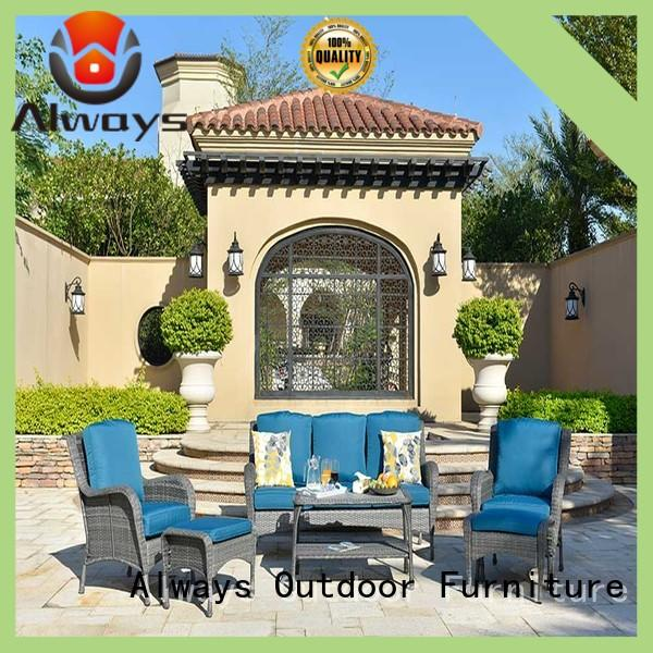 Always utility wicker style patio furniture couch for gardens