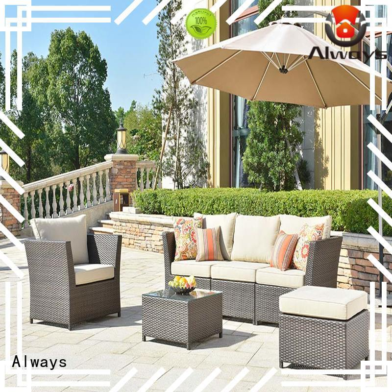 Always rattan resin patio furniture for sale for terraces