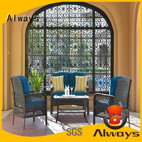Always brown outdoor pool furniture factory price for porch