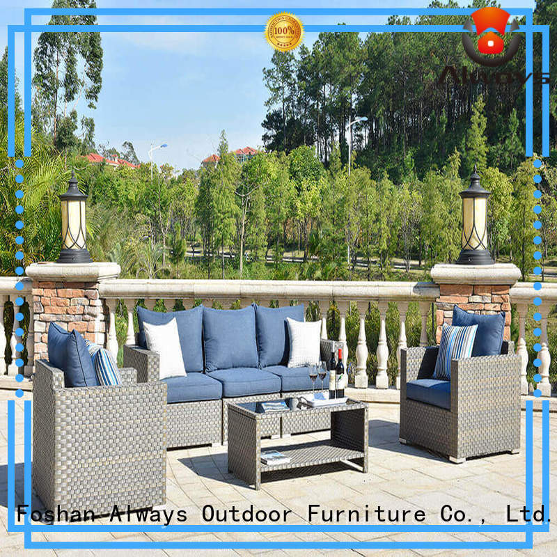 Always utility wicker outdoor furniture couch for swimming pools for outdoor leisure for places