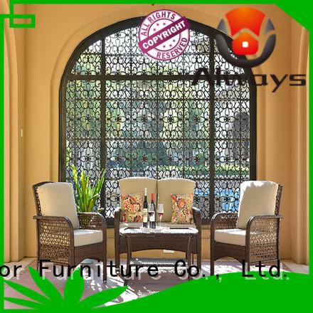 Always cane wicker garden sofa famamir for gardens