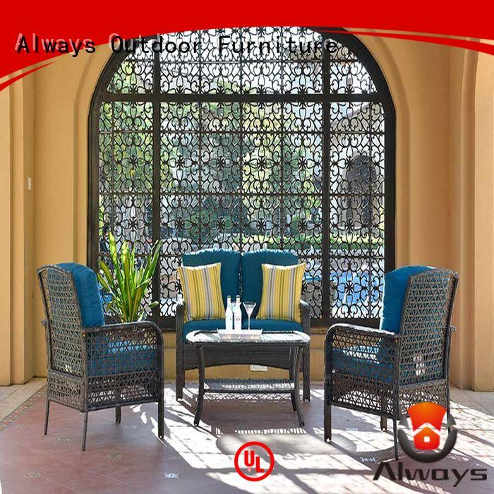 Always weatherproof resin patio furniture set for terraces