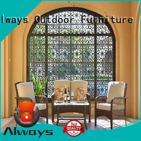 Always cane commercial outdoor furniture wholesale for sale for terraces