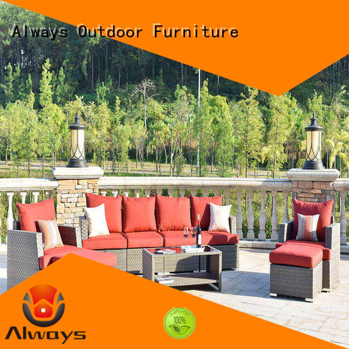 Always piece poolside furniture set for gardens