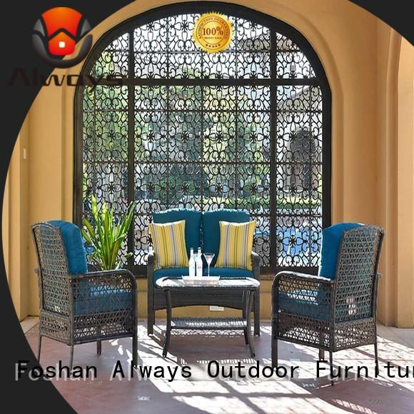 Always weatherproof outdoor furniture wholesale couch for gardens