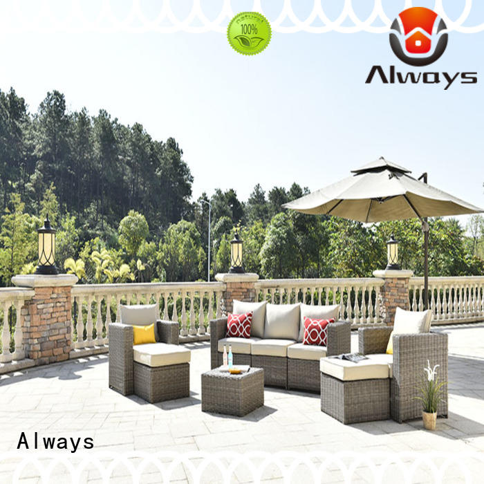 wicker patio sofa oem from China for swimming pools for outdoor leisure for places