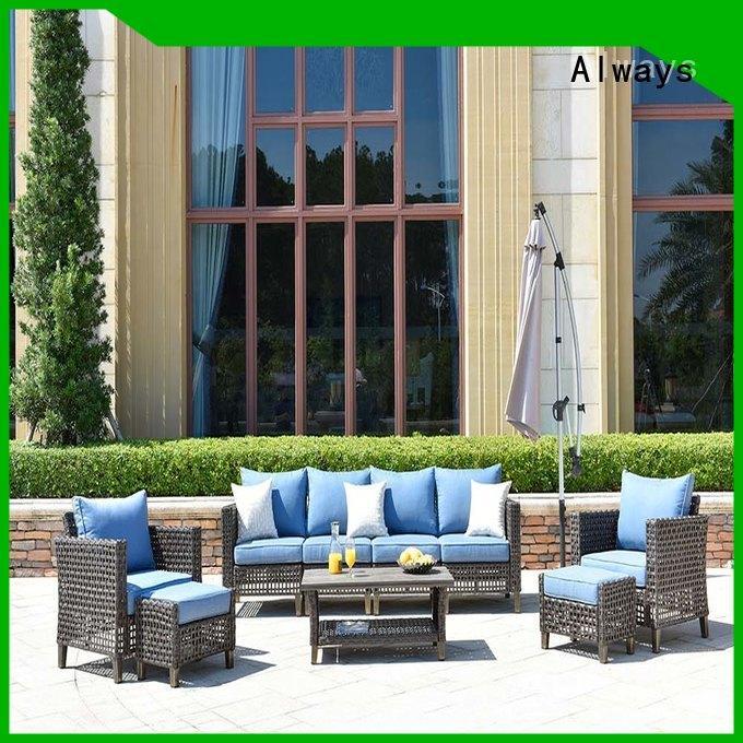Custom Outdoor Wicker Patio Furniture Aluminum Frame & PE Rattan Tolkien