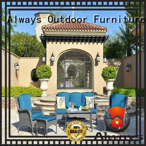 Wholesale High-grade Material Outdoor Wicker Sofa And Wicker Patio Table Set Kenard
