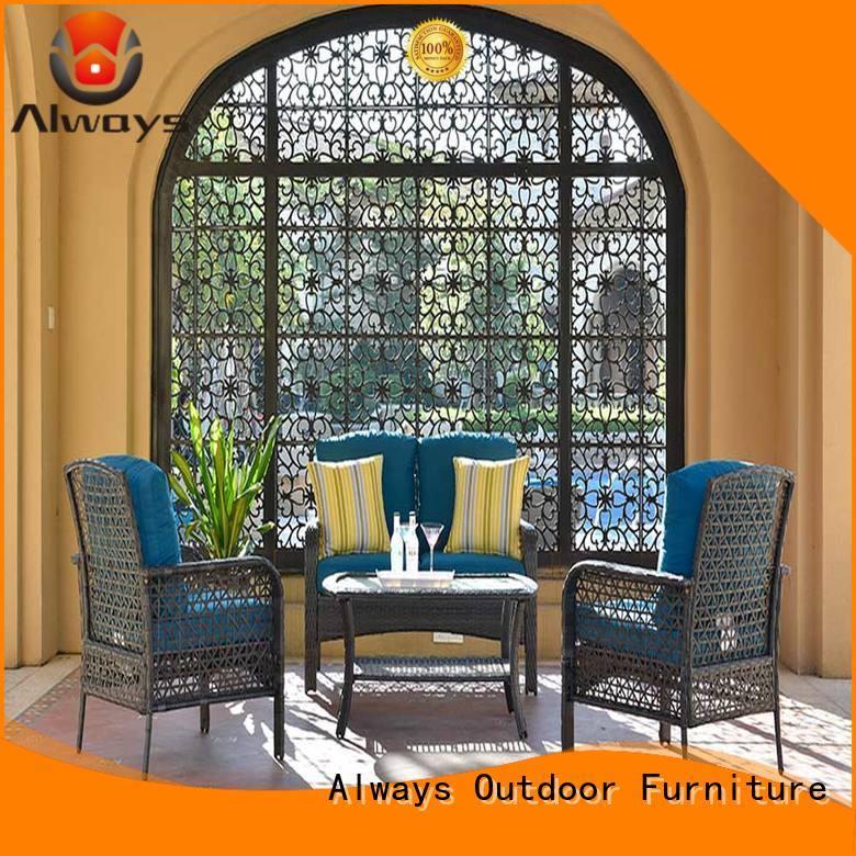 Always weatherproof outdoor wicker patio set outdoor for gardens