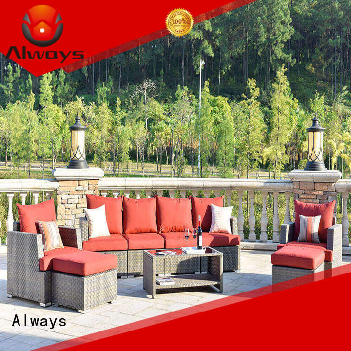 Always patio resin wicker patio furniture from China for terraces