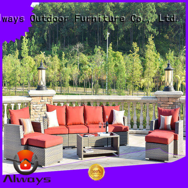 Always cane poolside furniture factory price for swimming pools for outdoor leisure for places