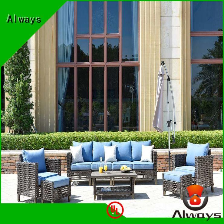 Always high quality commercial outdoor furniture wholesale set for porch