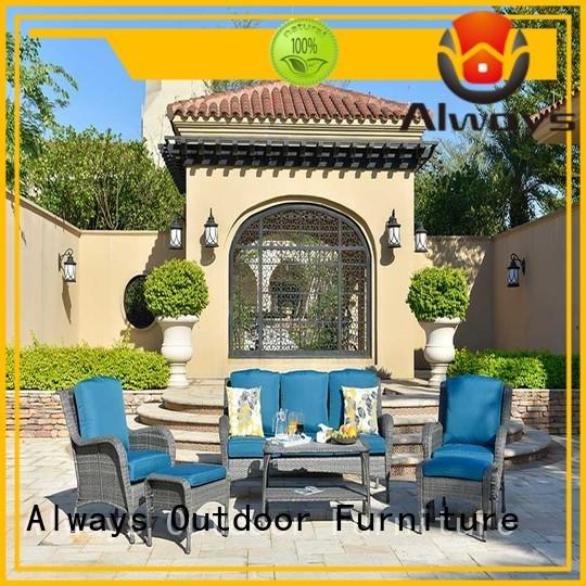 Always seating outside patio furniture couch for gardens