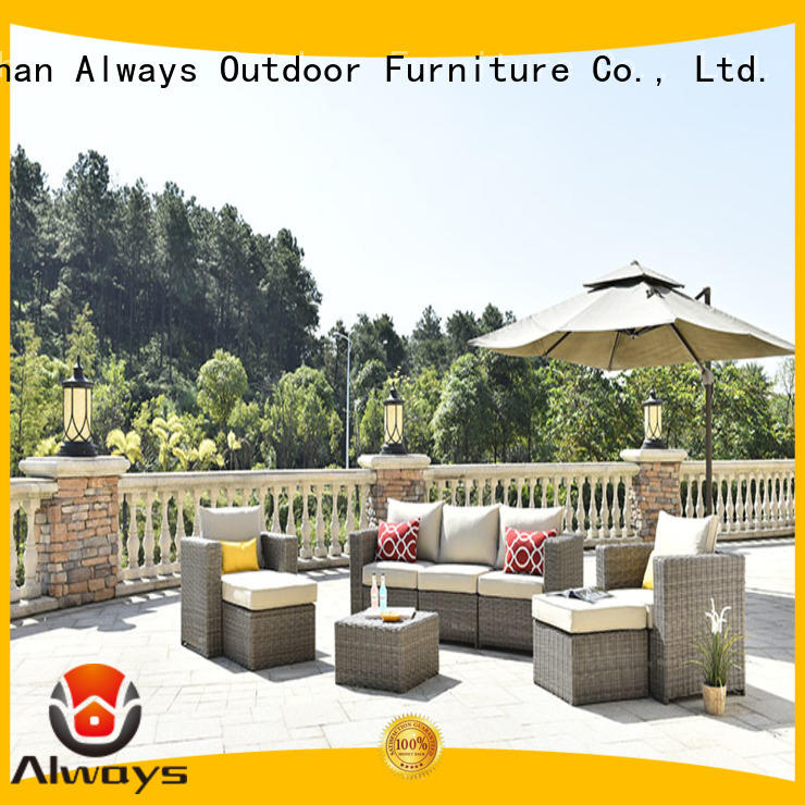 Always weatherproof all weather wicker sofa environmentally friendly for porch