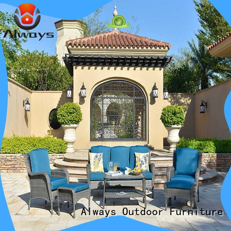 comfortable all weather wicker sofa table promotion for swimming pools for outdoor leisure for places