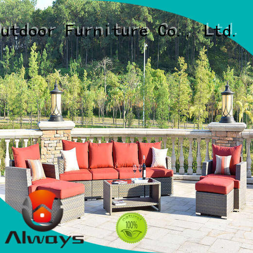 Always dothea wicker patio sofa factory price for gardens