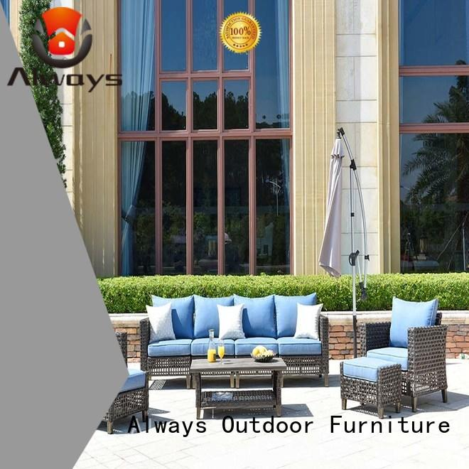 Always comfortable resin wicker patio furniture manufacturer for swimming pools for outdoor leisure for places