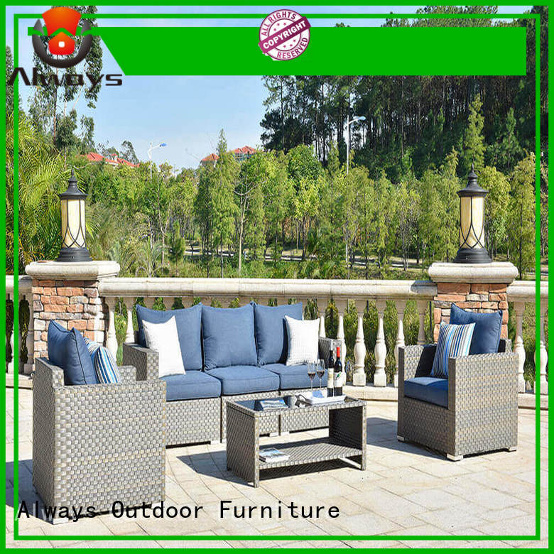 Always seating outdoor wicker patio furniture factory price for porch