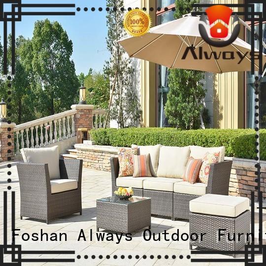Always pe outdoor wicker patio furniture factory price for terraces