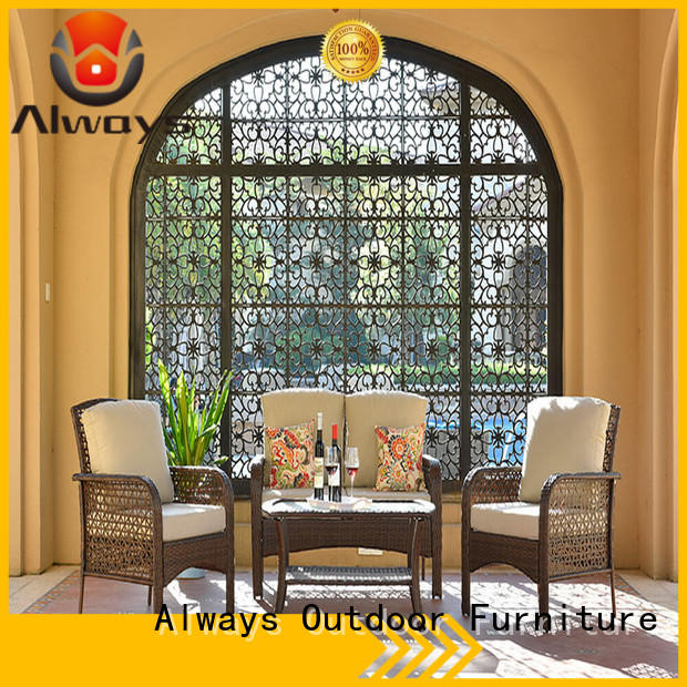 Always wicker outdoor sofa set factory price for swimming pools for outdoor leisure for places