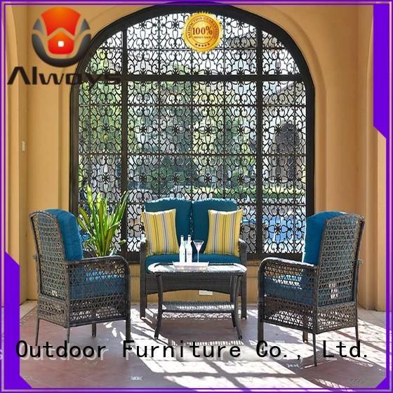 OEM Big Size Coffee Table Wicker Outdoor Sofa Set Dothea