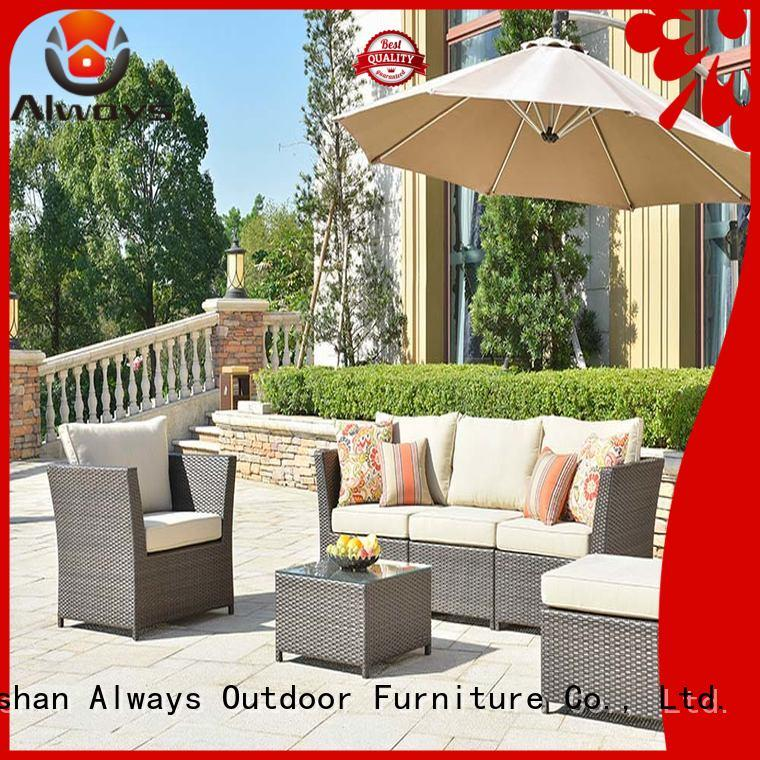 Always outdoor dining patio furniture couch for gardens
