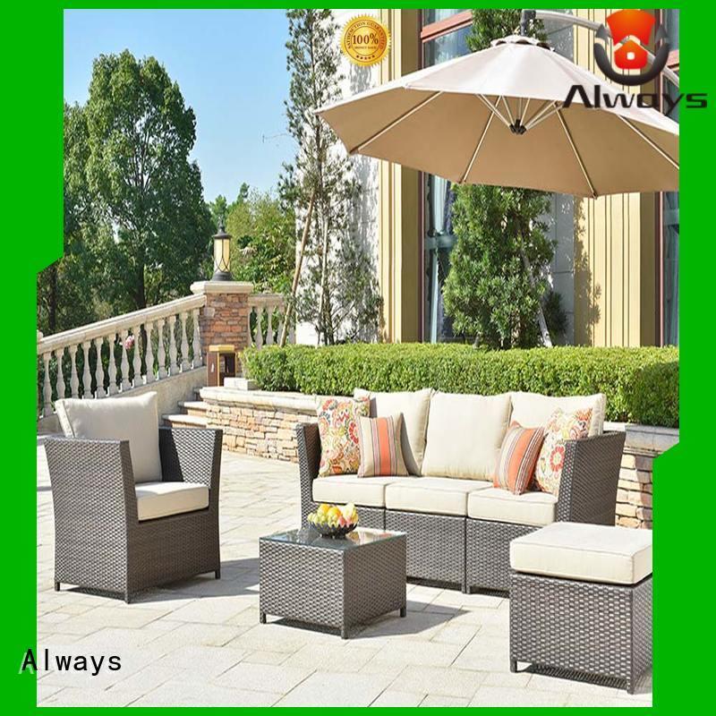 Always customized wicker patio sofa for sale for gardens