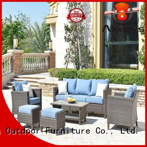 Always utility sectional patio furniture factory price for terraces
