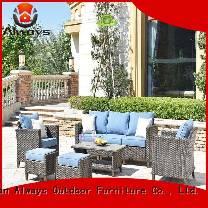Always color outdoor wicker sofa promotion for porch