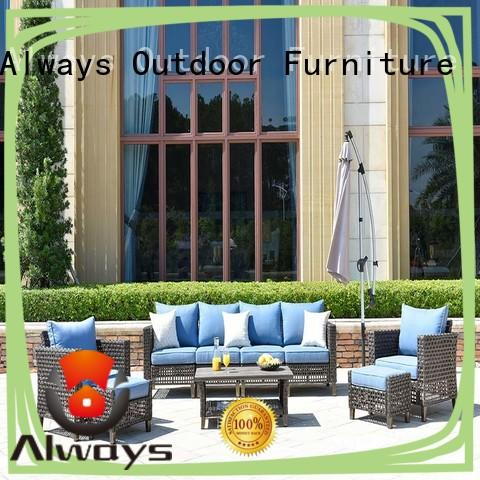 Always oem outdoor wicker sofa for sale for porch