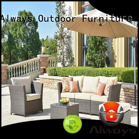 cane resin patio furniture wicker factory price for terraces